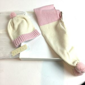 Toddot NIB Baby Hat and Scarf Cashmere and Wool